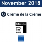 November 2018:  Crème de la Crème, RBC, Plug and Play